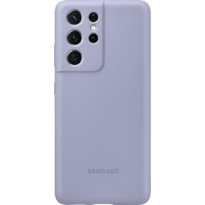 Samsung silikónový zadný kryt EF-PG998TVE pre S21Ultra, fialové