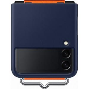 Samsung silikónový kryt s pútkom pre Z Flip3, modrý