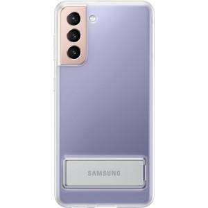 Samsung priehľadný zadný kryt so stojankom EF-JG991CTE pre S21, transparentné