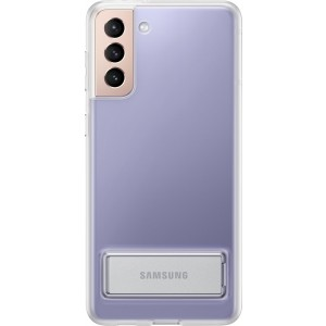Samsung priehľadný zadný kryt so stojankom EF-JG996CTE pre S21+, transparentné