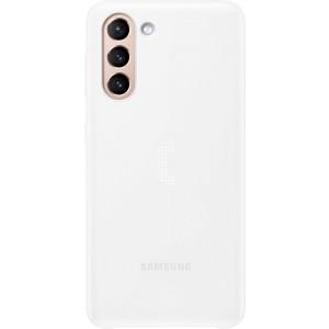 Samsung zadný kryt s LED diódami EF-KG991CWE pre S21, biele