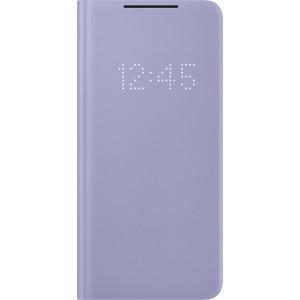 Samsung flipové puzdro LED View EF-NG996PVE pre S21+, fialové