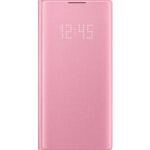 Flipové puzdro LED View pre Galaxy Note10, ružové