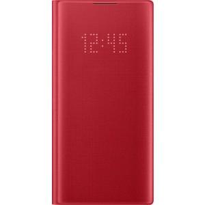Flipové puzdro LED View pre Galaxy Note10, červené