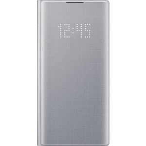 Flipové puzdro LED View pre Galaxy Note10, strieborné