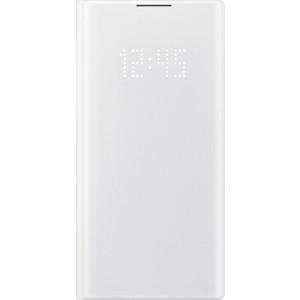 Flipové puzdro LED View pre Galaxy Note10, biele