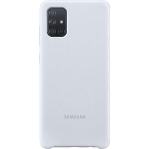 Silikónové púzdro pre Galaxy A71, strieborné