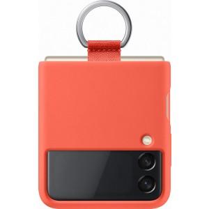 Samsung silikónový kryt s držiakom na prst pre Z Flip3, červený