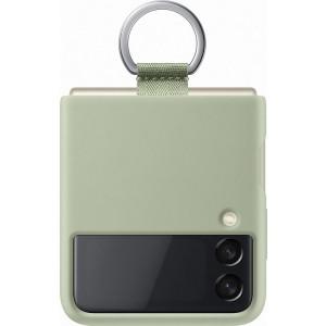 Samsung silikónový kryt s držiakom na prst pre Z Flip3, olivovo-zelený