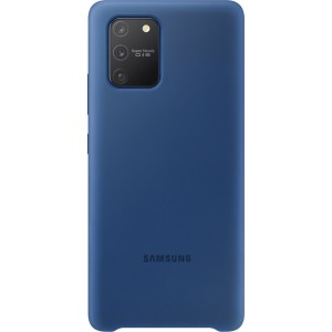 Silicone Cover pre Galaxy S10 Lite, modré