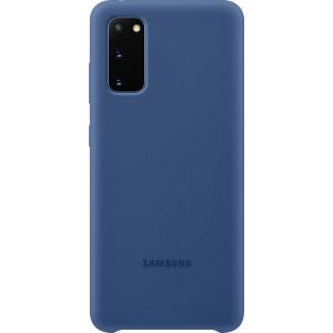 Samsung EF-PG980TN Silicone Cover pre Galaxy S20, tmavo modré