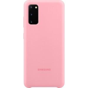 Samsung EF-PG980TP Silicone Cover pre Galaxy S20, ružové