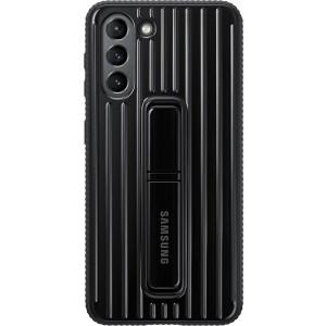 Samsung tvrdený ochranný zadný kryt so stojankom EF-RG991CBE pre S21, čierne