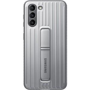 Samsung tvrdený ochranný zadný kryt so stojankom EF-RG991CJE pre S21, šedé