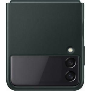 Samsung kožený zadný kryt pre Z Flip3, zelený