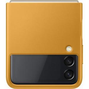 Samsung kožený zadný kryt pre Z Flip3, horčicovy