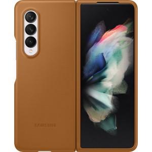 Samsung kožený zadný kryt pre Z Fold3, hnedý