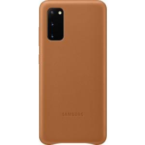 Samsung EF-VG980LA Leather Cover pre Galaxy S20, hnedé