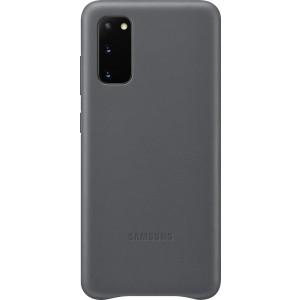 Samsung EF-VG980LJ Leather Cover pre Galaxy S20, šedé