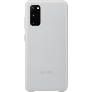 Samsung EF-VG980LS Leather Cover pre Galaxy S20, svetlo šedé