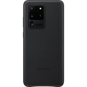 Samsung EF-VG988LB Leather Cover pre Galaxy S20 Ultra, čierne