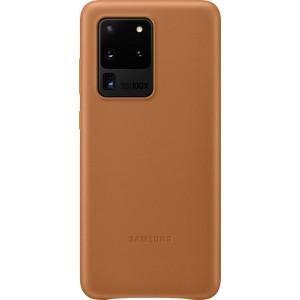 Samsung EF-VG988LA Leather Cover pre Galaxy S20 Ultra, hnedé