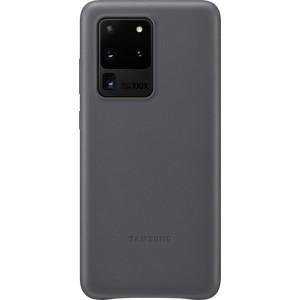 Samsung EF-VG988LJ Leather Cover pre Galaxy S20 Ultra, šedé