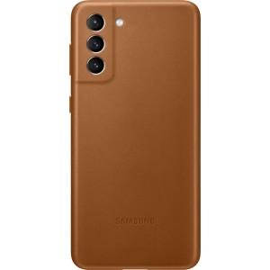 Samsung koženný zadný kryt EF-VG996LAE pre S21+, hnedé