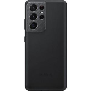 Samsung koženný zadný kryt EF-VG998LBE pre S21Ultra, čierne