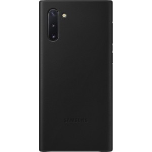 Koženný zadný kryt pre Galaxy Note10, čierny
