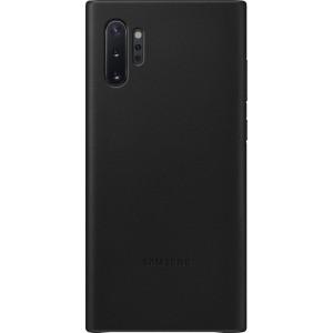 Koženný zadný kryt pre Galaxy Note10+, čierny