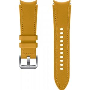 Samsung hybridný kožený remienok (20 mm, veľkosť S/M) pre Watch4 Classic 42mm, horčicový
