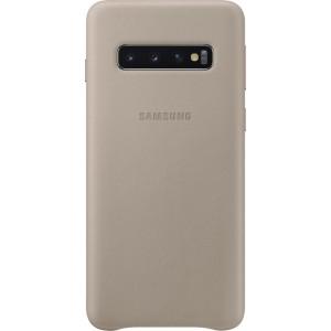 Samsung kožený kryt EF-VG973LJ pre Galaxy S10, šedý