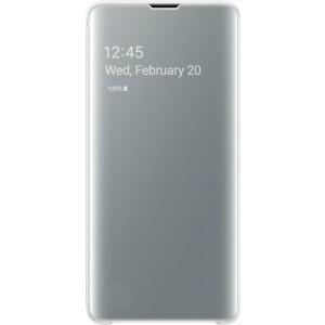 Samsung Clear View púzdro EF-ZG973CW pre Galaxy S10, biele
