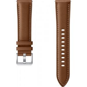 Samsung ET-SLR85SA Stitch Leather Band (20mm, S/M) pre Galaxy Watch3, hnedé