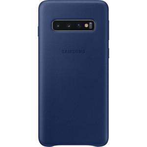 Samsung kožený kryt EF-VG973LN pre Galaxy S10, tmavomodrý