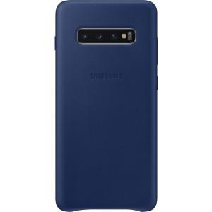 Samsung kožený kryt EF-VG975LN pre Galaxy S10+, tmavomodré