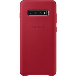 Samsung kožený kryt EF-VG975LR pre Galaxy S10+, červené