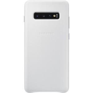 Samsung kožený kryt EF-VG975LW pre Galaxy S10+, biely