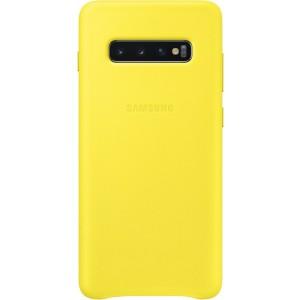 Samsung kožený kryt EF-VG975LY pre Galaxy S10+, žlté