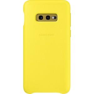 Samsung kožený kryt EF-VG970LY pre Galaxy S10e, žltý