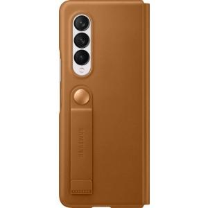 Samsung kožené flipové púzdro pre Z Fold3, hnedé