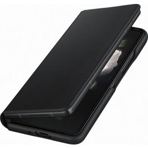 Samsung kožené flipové púzdro pre Z Fold3, čierne