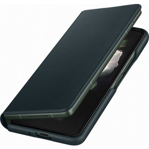 Samsung kožené flipové púzdro pre Z Fold3, zelené