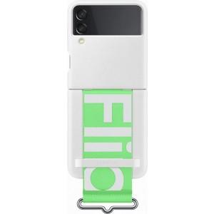 Samsung silikónový kryt s pútkom pre Z Flip3, biely