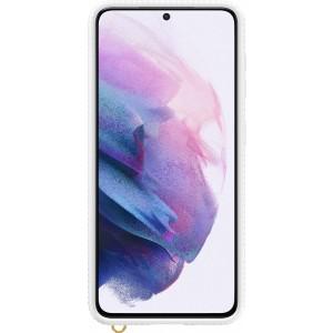 Samsung priehľadný ochranný kryt EF-GG991CWE pre S21, biele