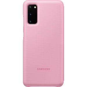 Samsung EF-NG980PP LED View cover pre Galaxy S20, ružové