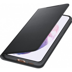 Samsung flipové puzdro LED View EF-NG996PBE pre S21+, čierne