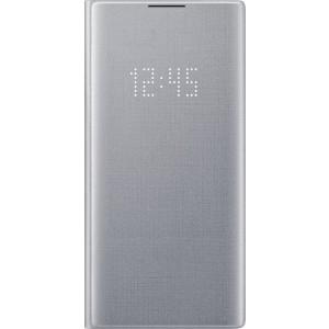 Flipové puzdro LED View pre Galaxy Note10+, strieborné