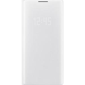 Flipové puzdro LED View pre Galaxy Note10+, biele